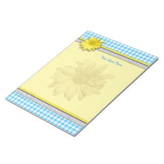 Guinga amarilla del blanco de la turquesa de la libreta para notas