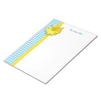 Guinga amarilla del blanco de la turquesa de la blocs de papel