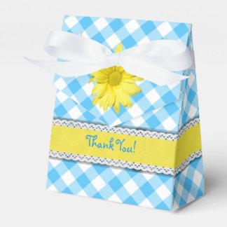 Guinga amarilla del blanco de la turquesa de la caja para regalos