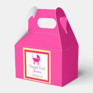 Guinga amarilla y cochecillo de bebé rosado caja para regalos de fiestas