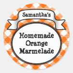 Guinga anaranjada Marmelade, jalea, tarro del atas