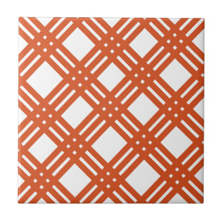 Guinga anaranjada y blanca azulejo cuadrado pequeño