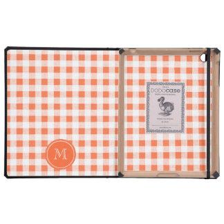 guinga anaranjada y blanca, su monograma iPad protectores