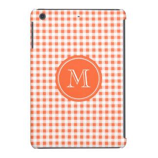 Guinga anaranjada y blanca, su monograma fundas de iPad mini retina