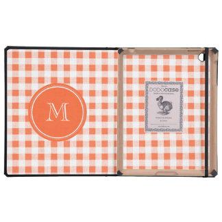 guinga anaranjada y blanca, su monograma iPad cobertura