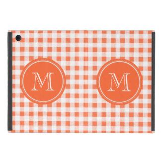 guinga anaranjada y blanca, su monograma iPad mini cárcasas