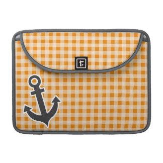 Guinga anaranjado oscuro; Ancla Fundas Para Macbook Pro