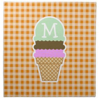 Guinga anaranjado oscuro; Cono de helado Servilleta De Papel