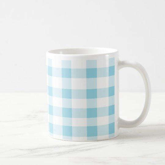 Guinga azul clara taza de café