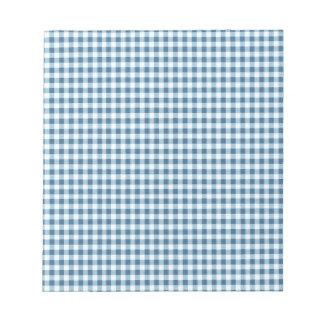 Guinga azul clásica de la comida campestre blocs de notas