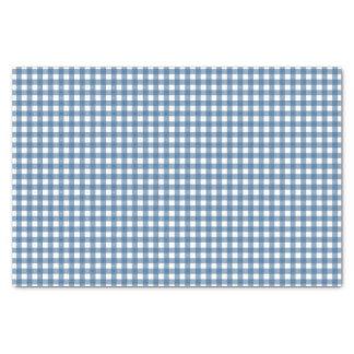 Guinga azul clásica papel de seda pequeño