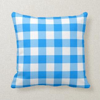 Guinga azul cojín decorativo