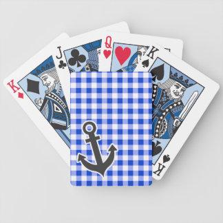 Guinga azul náutica cartas de juego