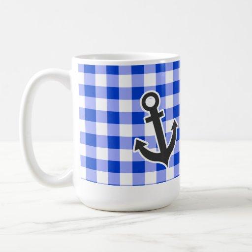 Guinga azul náutica tazas de café