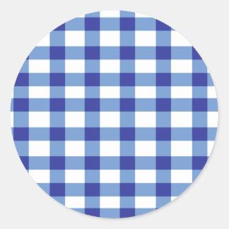 Guinga azul pegatina redonda