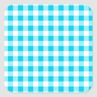 Guinga azul pegatina cuadrada