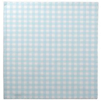 Guinga azul servilletas imprimidas
