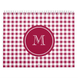 Guinga blanca roja de la baya, su monograma calendario