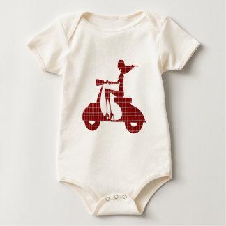 guinga blanca roja de la vespa del chica mamelucos de bebé