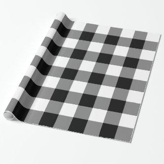 Guinga blanco y negro grande papel de regalo