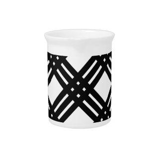 Guinga blanco y negro jarras de beber