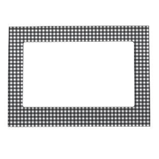 Guinga blanco y negro marcos magnéticos de fotos