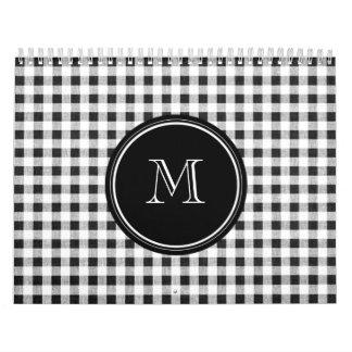 Guinga blanco y negro, su monograma calendarios