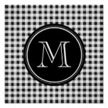 Guinga blanco y negro, su monograma posters