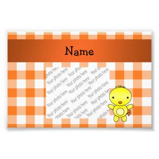 Guinga conocida personalizada del naranja del arte fotográfico