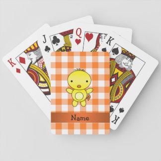 Guinga conocida personalizada del naranja del barajas de cartas