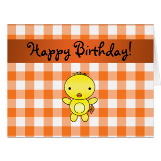 Guinga conocida personalizada del naranja del tarjeta de felicitación grande