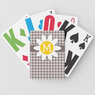 Guinga de color topo profunda; Margarita Baraja Cartas De Poker