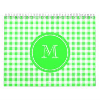 Guinga de la verde lima y del blanco, su monograma calendarios de pared