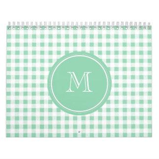 Guinga de la verde menta y del blanco, su monogram calendario