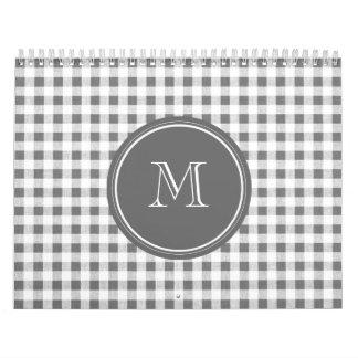 Guinga del gris y del blanco de carbón de leña, su calendario