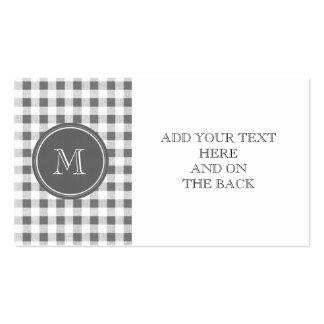 Guinga del gris y del blanco de carbón de leña, su plantilla de tarjeta personal