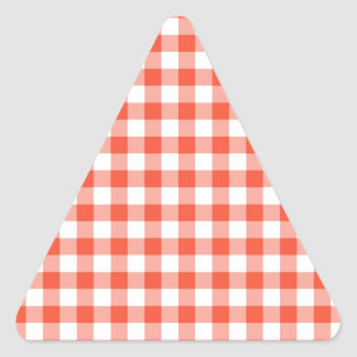 Guinga del melocotón pegatina triangular