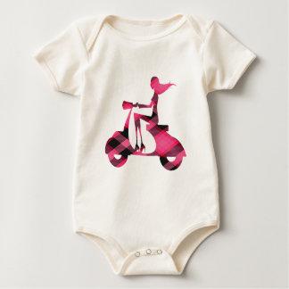 guinga del rosa de la vespa del chica mamelucos de bebé