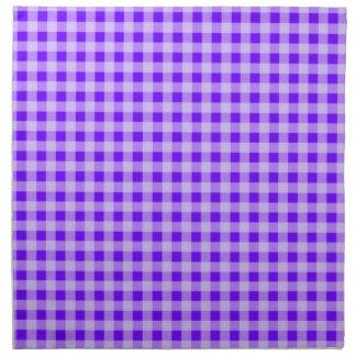 Guinga eléctrica de la púrpura del añil servilletas de papel