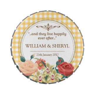 Guinga elegante del boda del país del jardín jarrones de dulces