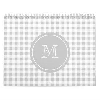 Guinga gris y blanca, su monograma calendarios
