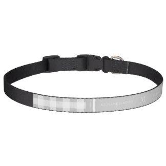 Guinga gris y blanca, su monograma collares para perros