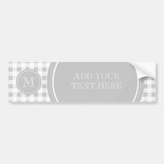 Guinga gris y blanca, su monograma pegatina para auto