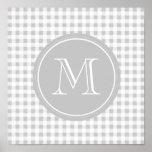 Guinga gris y blanca, su monograma poster