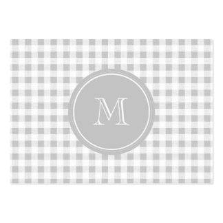 Guinga gris y blanca, su monograma tarjetas de visita