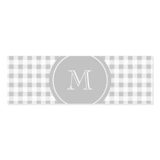Guinga gris y blanca, su monograma plantillas de tarjetas personales