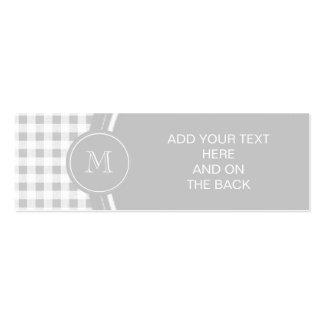 Guinga gris y blanca, su monograma plantillas de tarjeta de negocio