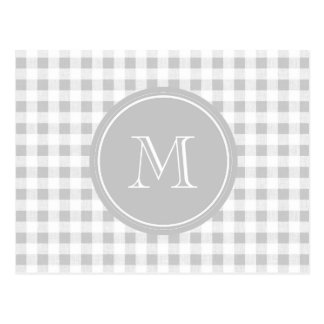 Guinga gris y blanca, su monograma tarjetas postales