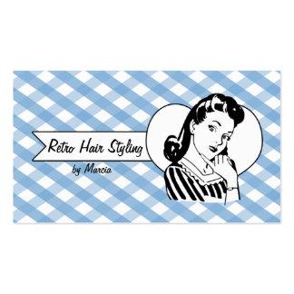 guinga modela del estilista del chica del vintage tarjetas de visita
