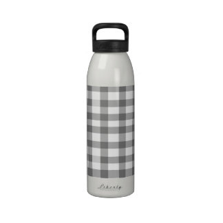 Guinga negra botella de agua reutilizable